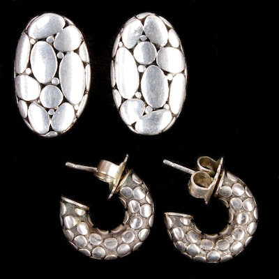 John Hardy Sterling Silver Earrings