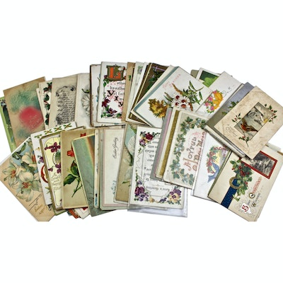 Collection of Vintage and Antique Embossed Postcards