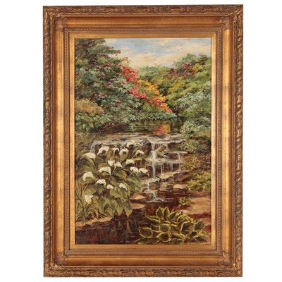 Tropical Landscape Oil Painting