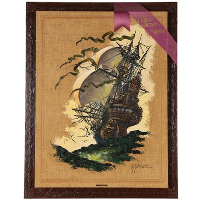 "Eric Wyman Mixed Media Painting ""Return to Maracaibo"""
