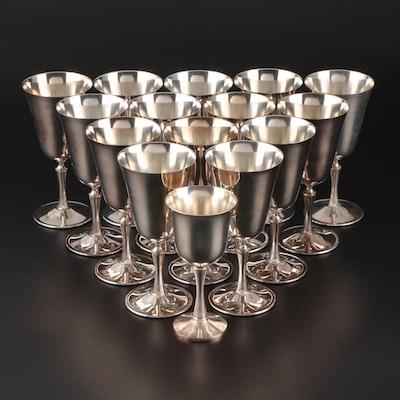 Italian de Uberti and American Salem Silver Plate Goblets