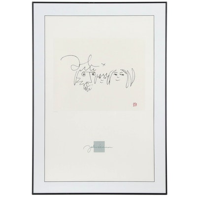 "After John Lennon Limited Edition Offset Lithograph ""Family"""