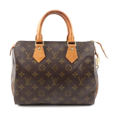 Louis Vuitton Speedy 25 Handbag in Monogram Canvas and Leather