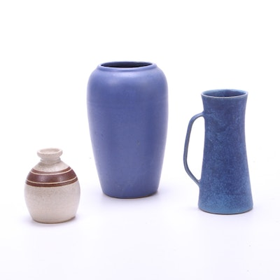 Ferrin Creek Pottery Vase with Other Earthenware Pottery Vases