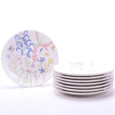 Ernestine Salerno Italian Hand-Painted Porcelain Dinner Plates