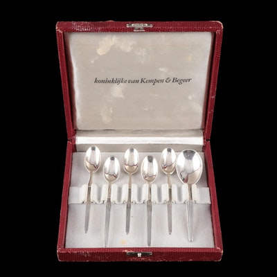Dutch Royal van Kempen & Begeer 835 Silver Demitasse and Sugar Spoons