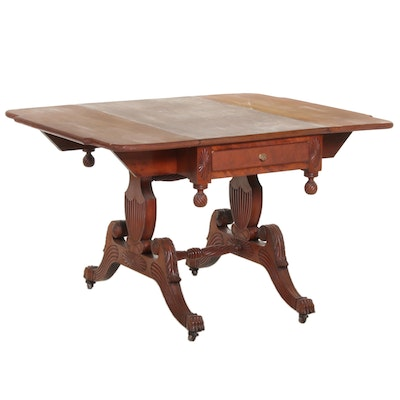 American Classical Drop-Leaf Breakfast Table, Mid-19th Century