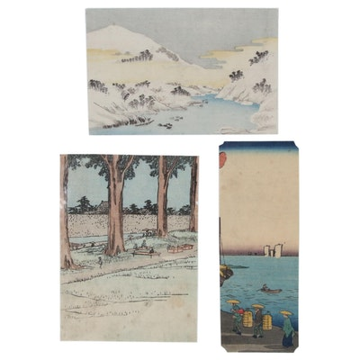 Miniature Ukiyo-e Woodblock Prints after Hiroshige