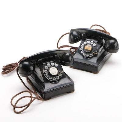 Western Electric Bell System Rotary Dial Telephones, Mid-Century