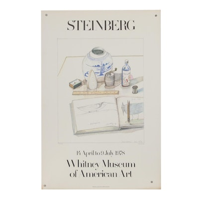 Saul Steinberg Whitney Museum of American Art Exhibition Poster, 1978