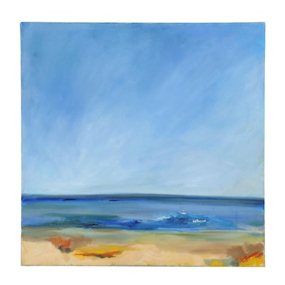 Beachside Acrylic Painting