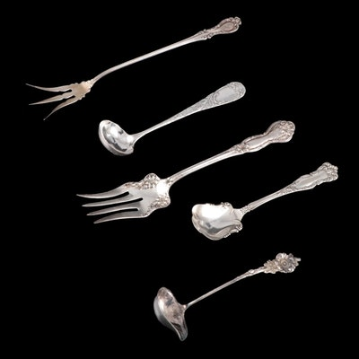 American Silver Plate Utensils Including Wallace Lettuce Fork, 20th Century