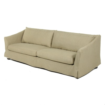 Contemporary Slip-Covered Sofa
