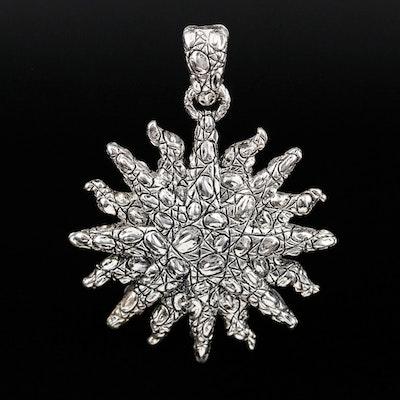 Jai Sterling Silver Sunburst Enhancer Pendant