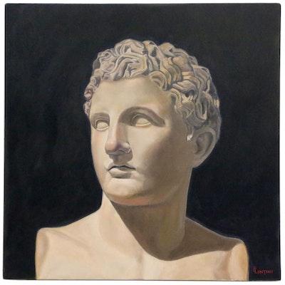 "Peter Lentini Oil Painting ""Idmon"""