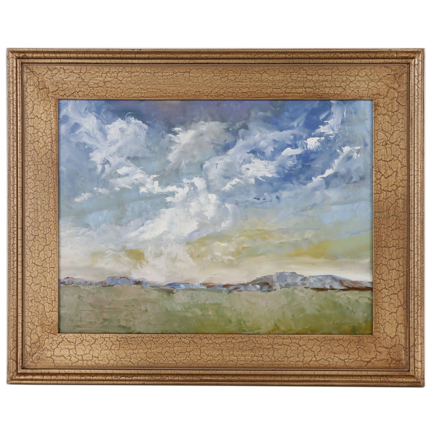 David W. Poe Landscape Oil Painting
