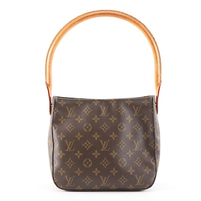 Louis Vuitton Looping MM Bag in Monogram Canvas and Vachetta Leather