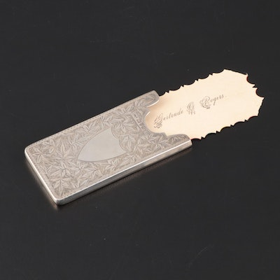 Payton, Pepper & Sons Chased Sterling Silver Card Case, 1903