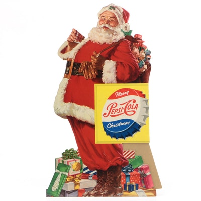 Pepsi-Cola Santa Claus Store Display, Mid 20th Century