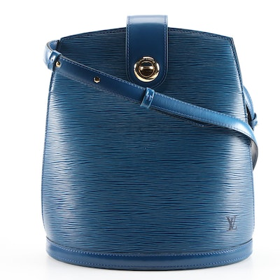 Louis Vuitton Cluny Bucket Bag in Toledo Blue Epi Leather