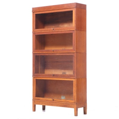 Globe-Wernicke Oak Four-Stack Barrister's Bookcase
