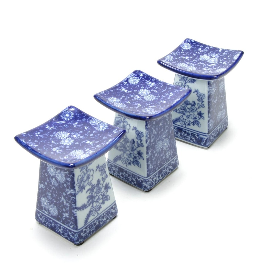 Chinese Blue and White Porcelain Opium Pillows