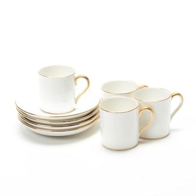 Crown Staffordshire for Tiffany & Co. Gilt Porcelain Espresso Set