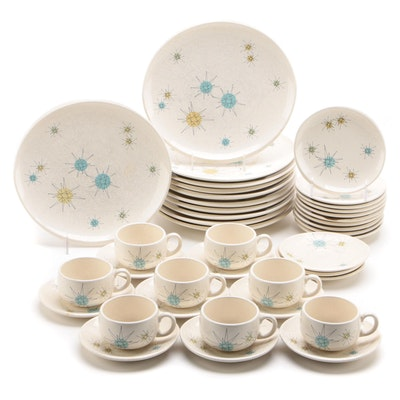 "Franciscan ""Starburst"" Earthenware Dinnerware, Mid-20th Century"