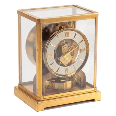 LeCoultre & Cie Gilt Brass Atmos Clock
