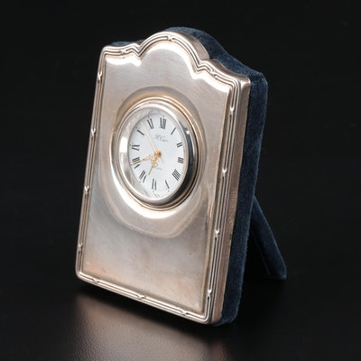 R. Carr Sterling Silver Desk Clock, 1994