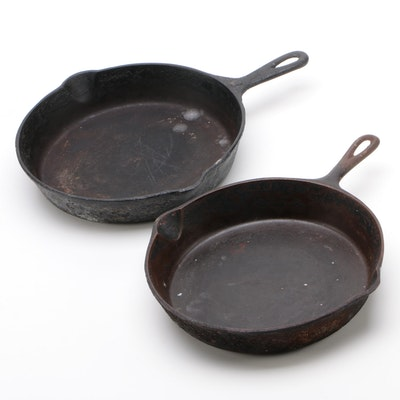 American Cast Iron Skillets, Early to Mid 20th Century