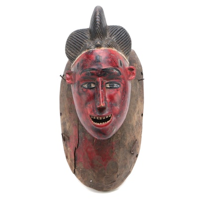 African Guro Female Figure Wood Mask