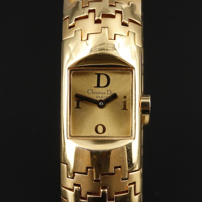 Christian Dior Diorific Gold Tone Quartz Wristwatch
