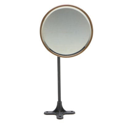Adjustable Beveled Glass Wall Mount Shaving Mirror