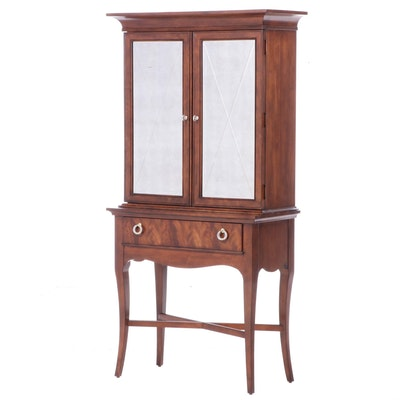 Stanley Furniture Mahogany Cabinet-on-Stand