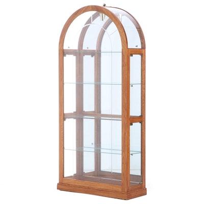 Pulaski Furniture Oak and Glass Display Cabinet