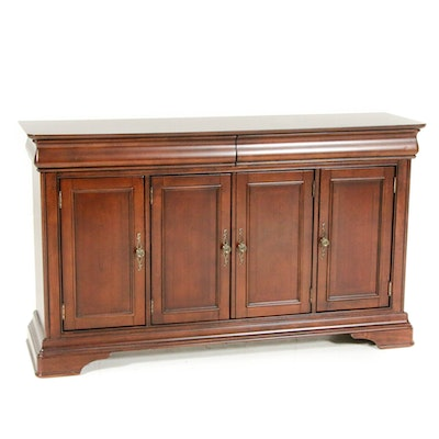 """Havertys Furniture """"Orleans"""" Louis Philippe Style Cherrywood Sideboard"""