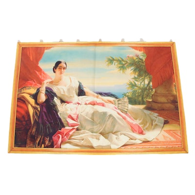 Reproduction Print Wall Hanging after Painting by Franz X. Winterhalter