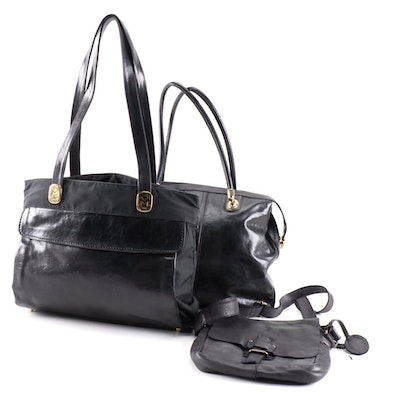 Marino Orlandi and Harbour 2nd Black Shoulder Bags and Crossbody