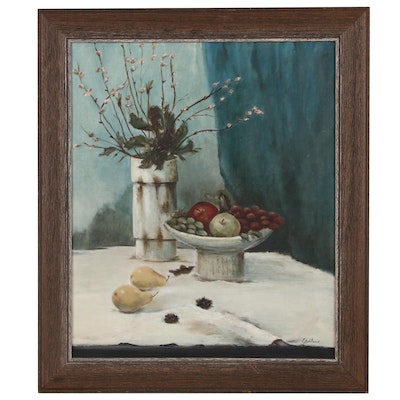 Oil Still Life Painting, Late 20th to Early 21st Century