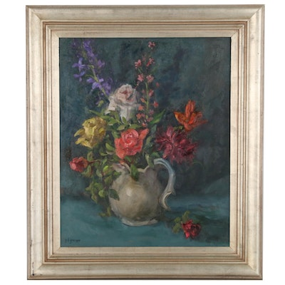 Peg D. Grosser Floral Still Life Oil Painting