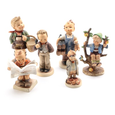 "Goebel Hummel Figurines Including ""Village Boy"" and Others"