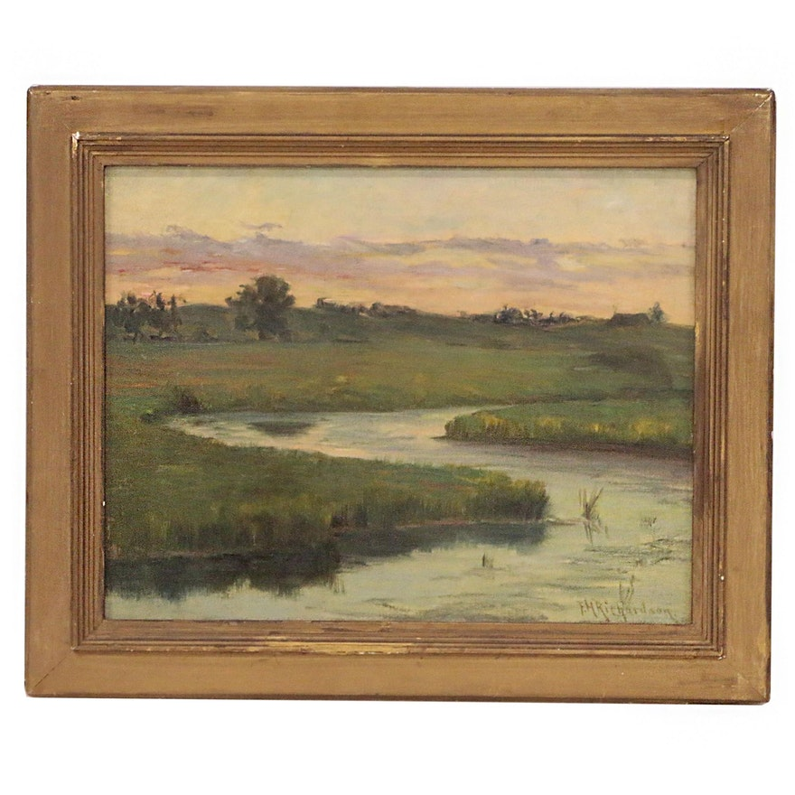 Francis Henry Richardson Landscape Oil Painting