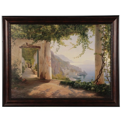 """Offset Lithograph After Carl Frederic Aagaard """"Amalfi Dia Cappuccini"""""""