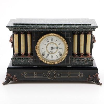 Seth Thomas Victorian Adamantine Mantel Clock, Early 20th Century