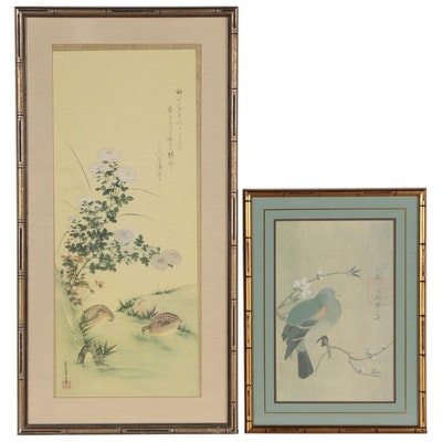 Offset Lithographs After East Asian Bird Paintings