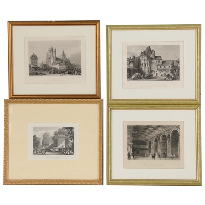 "Figural Lithographs Including after James Redaway ""Mayence Cathedral-Rhine"""