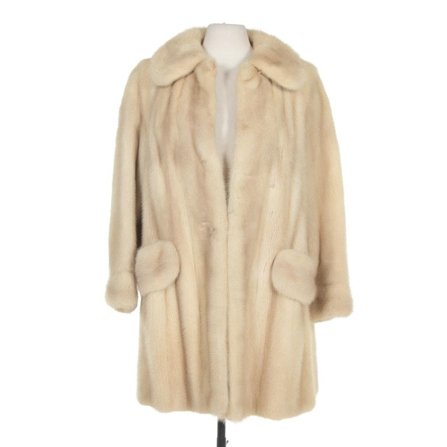 Pastel Mink Fur Coat from Grosvenor of Canada, Vintage