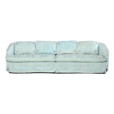 Reliable Furniture Mfg. Co. Blue Damask Sofa