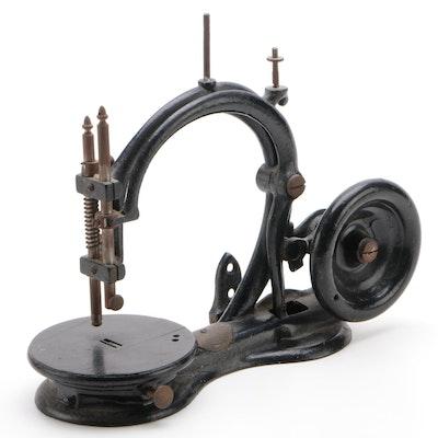 Shaw & Clark By Rowe, Wheeler & Wilson Cast Iron Sewing Machine, Antique